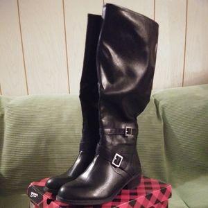 Arizona Black Buckle Riding Boots